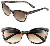Kate Spade Women's 'Amaras' 55Mm Sunglasses - Black/ Blush Tort