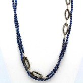 Chan Luu Royal Blue Marquis Layering Necklace