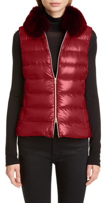 Herno Genuine Fox Fur Collar Down Vest