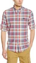 U.S. Polo Assn. Men's Long Sleeve Classic Fir Madras Plaid Sport Shirt