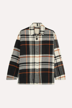 Madewell Bromley Checked Cotton-flannel Shirt - Black
