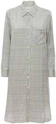ASCENO The Oxford Satin Nightgown