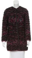 M Missoni Heavy Wool Rib Knit Jacket
