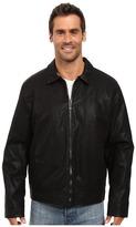Calvin Klein Faux Leather Shirt Collar Jacket