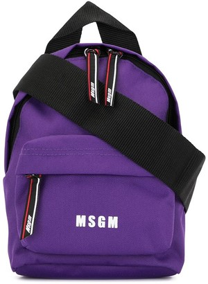 MSGM Logo Print Backpack