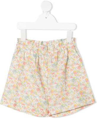 Bonpoint Floral Print Gathered Shorts