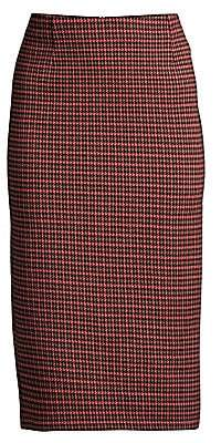 Max Mara Women's Caravan Hoodstooth Pencil Skirt