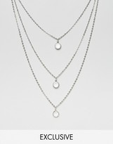 Reclaimed Vintage Multirow Chain Necklace