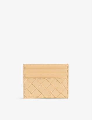Bottega Veneta Double-faced woven leather card holder