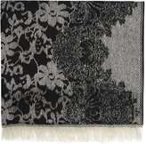 Monochrome Lace Blanket Scarf