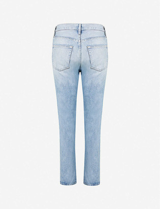 Frame Le Original twisted skinny high-rise jeans