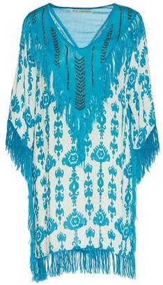 Ada Kamara Embellished Fringe Dress In Blue