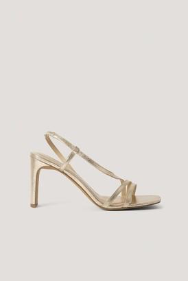 NA-KD Asymmetric Strap Heels