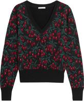Chloé Wool-blend Jacquard Sweater - Black