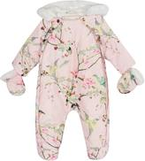 Ted Baker Baby Girls Printed Snugglesuit & Mittens