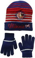 Disney Minnie Mouse Cooker,Girl's Hat and Gloves Set