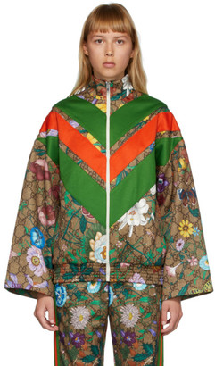 Gucci Brown GG Flora Track Jacket