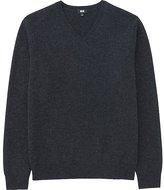 Uniqlo Men's Lambswool V-Neck Sweater
