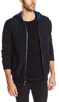 Calvin Klein Men's Premium Bolied Wool Hoody W/Leather Trim 12GG