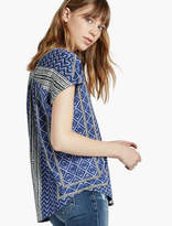 Lucky Brand Printed Button Front Tee