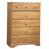 South Shore Furniture South Shore Furniture, Little Treasures Collection, 5 Drawer Chest, Country Pine