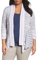 Nic+Zoe Maze Meadows Stripe Cardigan (Plus Size)