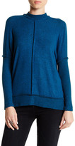 Bobeau Seamed Front Snit Mock Turtleneck Sweater