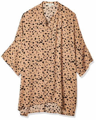 Forever 21 Women's Plus Size Cheetah Print Button-Up Top