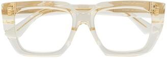 Bottega Veneta Transparent Square-Frame Glasses