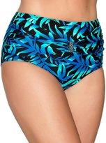 M&Co Plus tropical print high waist bikini bottom