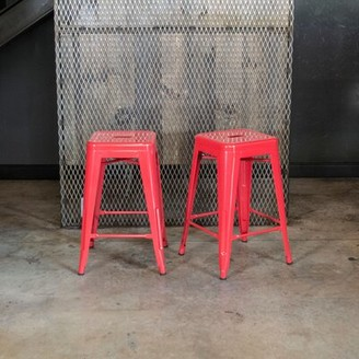 "Williston Forge Adair Bar & Counter Stool Seat Height: Bar Stool (30"" Seat Height), Color: Red, Pack Size: 1"