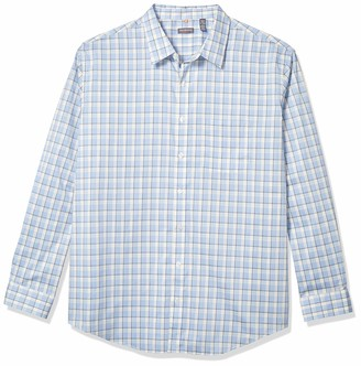 Van Heusen Men's Big & Tall Big and Tall Traveler Stretch Long Sleeve Button Down Blue/White/Purple Shirt