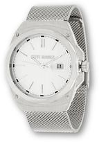 Steve Madden Round Dial Silvertone Mesh Bracelet Watch