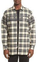 3.1 Phillip Lim Men's Vip Elongated Zip Flannel Shirt