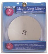 Swissco Clear Acrylic Suction Cup Mirror 6-Inch Magnification 7X