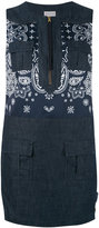 Moncler sleeveless denim dress - women - Cotton/Polyamide/Polyester - 42