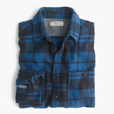 J.Crew Wallace & Barnes heavyweight flannel shirt in brown check