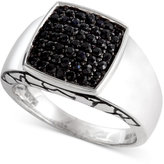 Effy Gento by Men's Black Sapphire Ring (1 ct. t.w.) in Sterling Silver