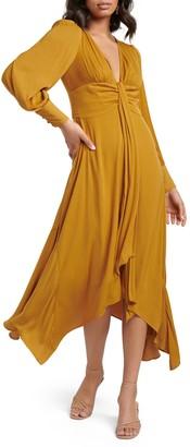 Ever New Genevieve Ochre Long Sleeve Maxi Dress