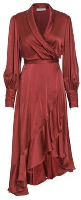 Zimmermann Silk wrap midi dress