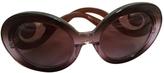 Prada Purple Plastic Sunglasses