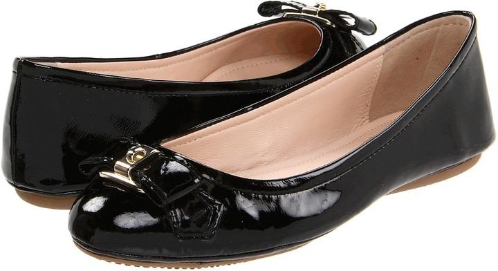 Elie Tahari Shirley Ballet Flat (Black) - Footwear