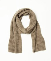 Portolano Cashmere Scarf With Cables.