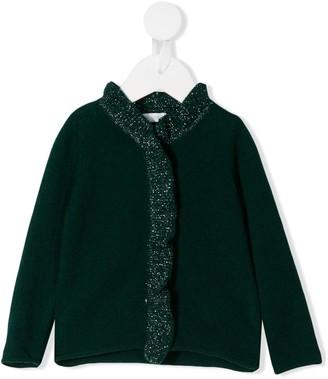 Il Gufo Glitter Wool Cardigan