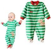 Vine Baby Christmas Footed Romper Fleece Jumpsuit Santa elk Suits Outfit Xmas Clothing
