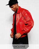 Reclaimed Vintage Military Ma2 Jacket - Red
