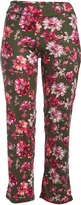 Glam Green & Red Floral Straight-Leg Pants - Plus