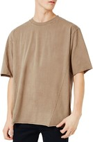 Topman Men's Raw Edge Oversized T-Shirt