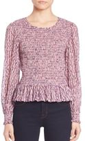 Rebecca Taylor Long Sleeve Ruched Top
