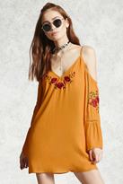 Forever 21 Embroidered Open-Shoulder Dress
